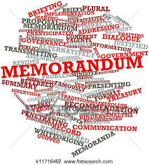 is in its singular form memoranda or memorandums in the plural form it is often written from a one to all perspective like mass communication